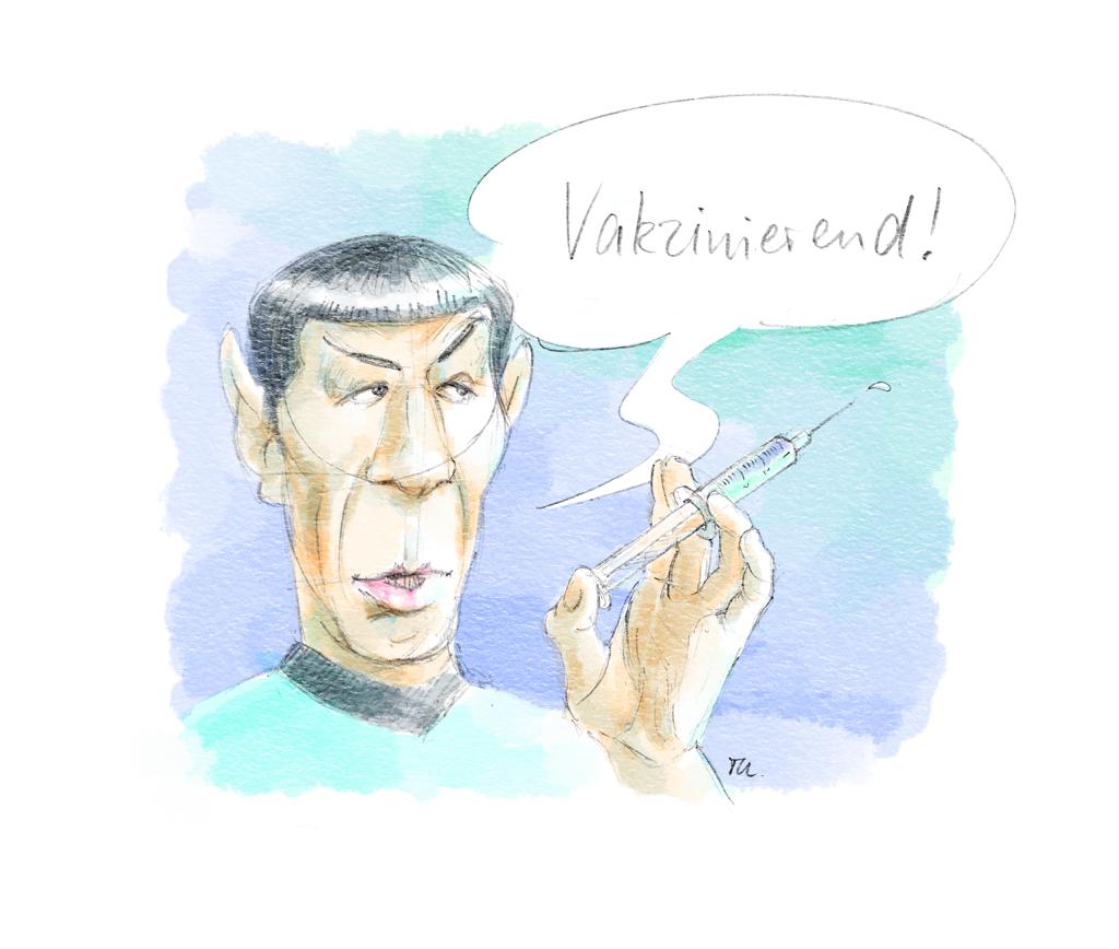 Mr. Spock Vakzinierend