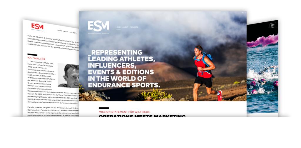Endurance sports marketing Web-Ansichten